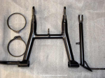 Frame parts, after powdercoating