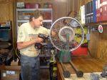 Steve Reed, taking wheels apart!
