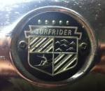 Badge with lettering