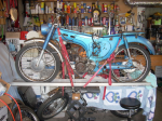 90 Mtn (pre-inj) frame with 100 Sport engine installed